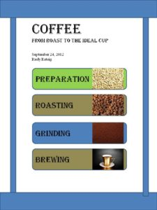 coffee booklet cover